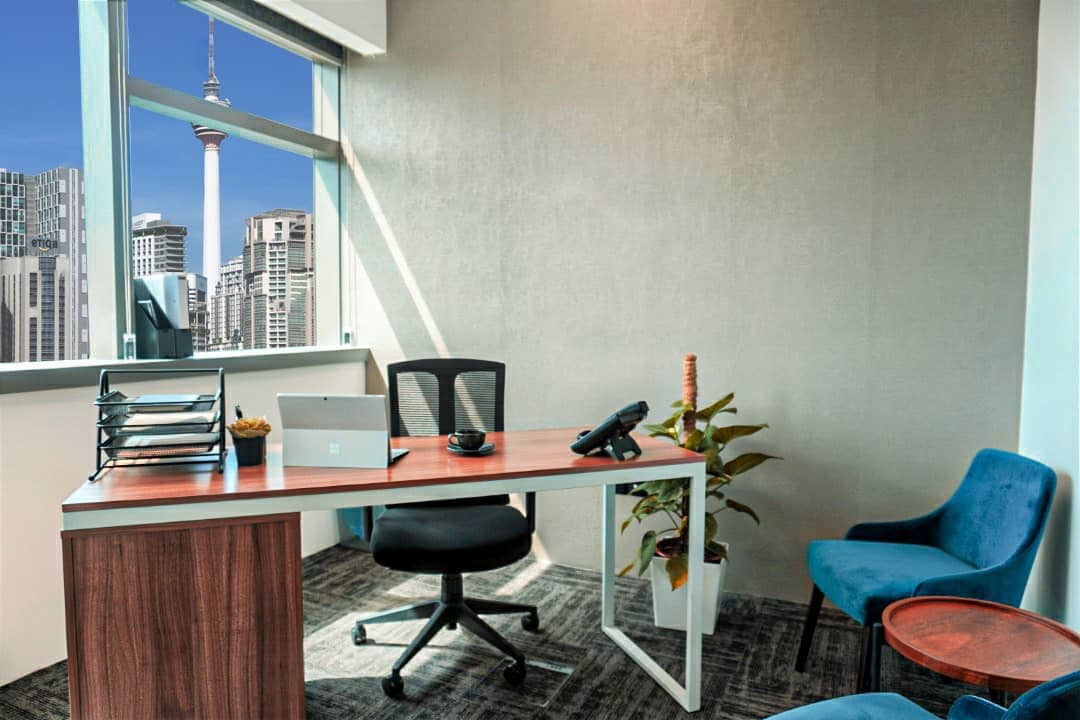 office space view to klcc